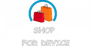 shop for device in transparent background